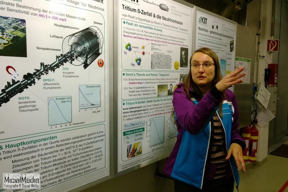 Nancy Wandkowsky. Institut für Kernphysik am KIT, erklärt KATRIN