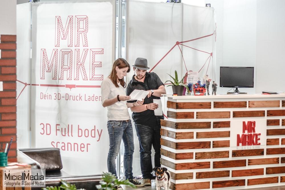 Kathrin Winter und Daniel Zimmermann in ihrem 3D-Druck Laden | Foto: Michael M. Roth, MicialMedia